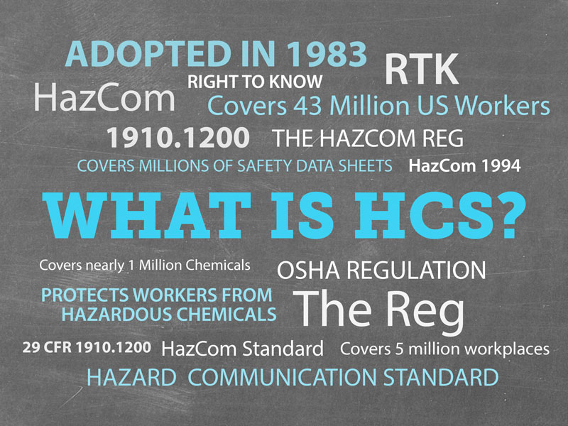 HCS, Hazard Communication Standard, Hazcom